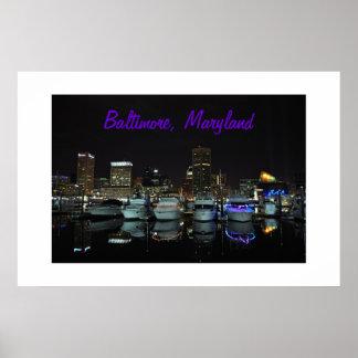 Baltimore Skyline photograph Poster