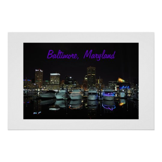 Baltimore Skyline photograph Poster