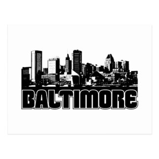 Baltimore Skyline Postcard