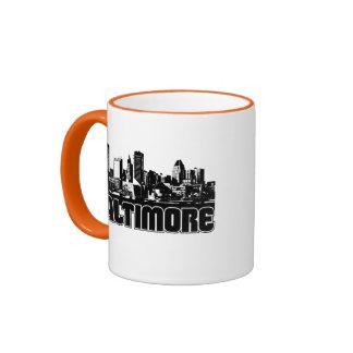 Baltimore Skyline Ringer Mug