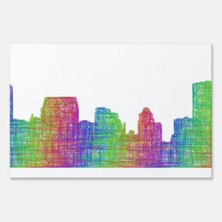 Baltimore skyline sign