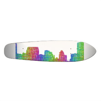 Baltimore skyline skateboard