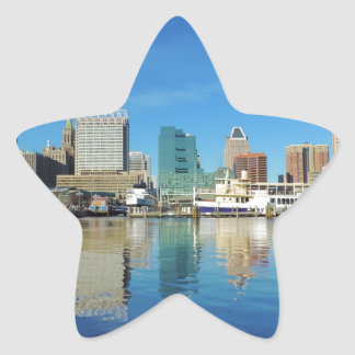 Baltimore Skyline Star Stickers