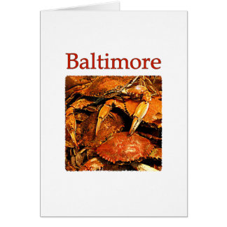 Baltimore Steamed Crabs Logo Cards