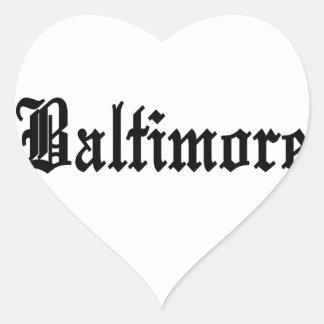 Baltimore Heart Sticker