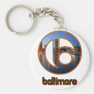 Baltimore things basic round button keychain