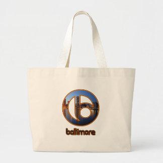 Baltimore things large tote bag