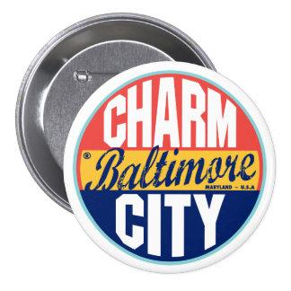 Baltimore Vintage Label 3 Inch Round Button