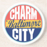 "Baltimore Vintage Label Drink Coaster<br><div class=""desc"">Baltimore Vintage Label</div>"