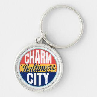 Baltimore Vintage Label Keychain