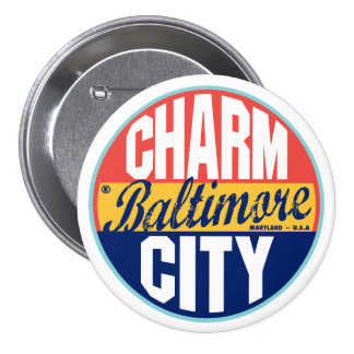 Baltimore Vintage Label Pinback Button