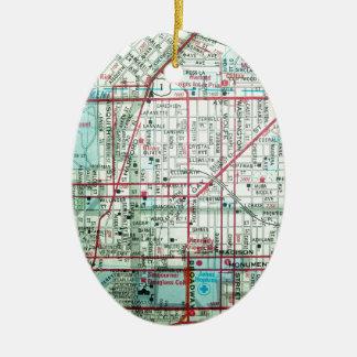 BALTIMORE Vintage Map Ceramic Ornament
