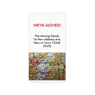 Baltimore We've Moved label