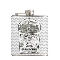 Baltimore Whiskey Vintage 1867 Hip Flask at Zazzle