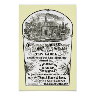 Baltimore Whiskey Vintage 1867 Poster at Zazzle