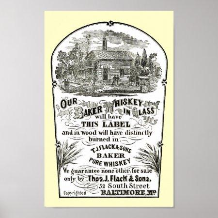 Baltimore Whiskey Vintage 1867 Poster