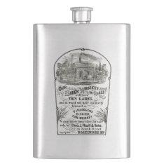 Baltimore Whiskey Vintage 1867 Premium Flask at Zazzle