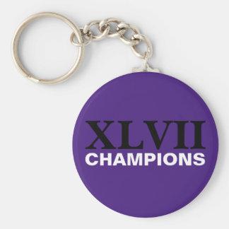 Baltimore - XLVII Champions Basic Round Button Keychain