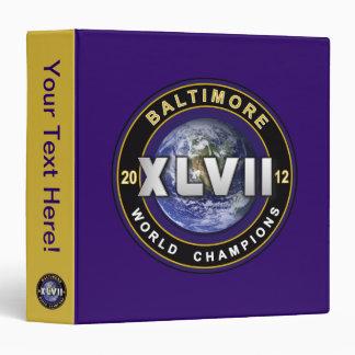 Baltimore XLVII World Champions Football Binder