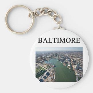 BALTIMOREmaryland Basic Round Button Keychain