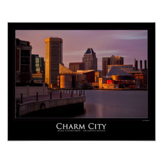 Baltimore's Inner Harbor Sunset Poster