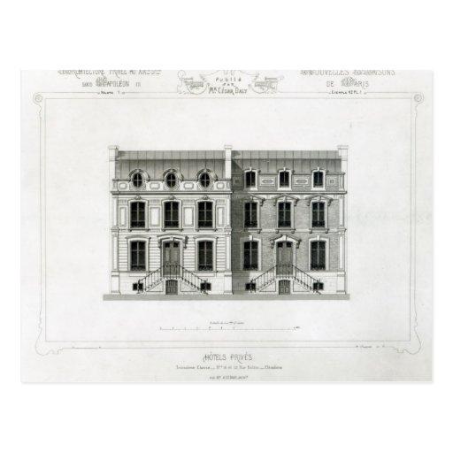 Balzac de las rudas de los hoteles Prives, 10 y 12 Tarjetas Postales