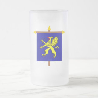 Balzers Armorial Banner on Crossbar 16 Oz Frosted Glass Beer Mug