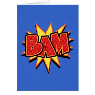 Bam-3 Tarjeta De Felicitación