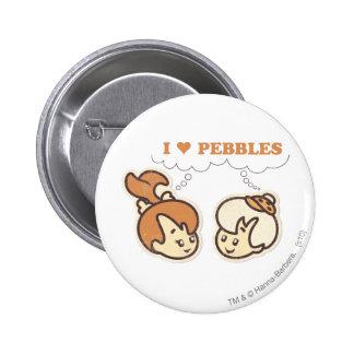Bam Bam loves PEBBLES™ Pinback Button