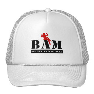 BAM Beauty and Muscle Bodybuilding Baseball Cap Trucker Hat