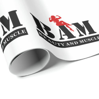 BAM Beauty and Muscle Bodybuilding Wrapping Paper