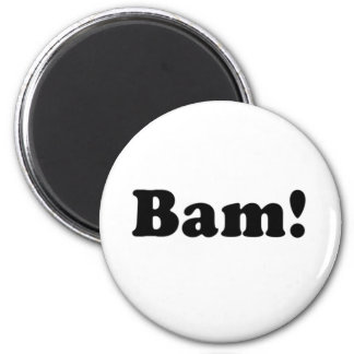 Bam! black and blue 2 inch round magnet