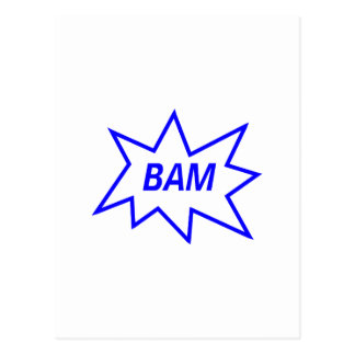 Bam Blue Postcard