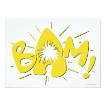 invitations, vintage, retro, bam, batman, bat man, 1966 batman, 60's batman, batman action callout, action words, fighting sound effect words, punching sounds, adam west, burt ward, batman tv show, batman cartoon graphics, super hero, classic tv show, Invitation with custom graphic design