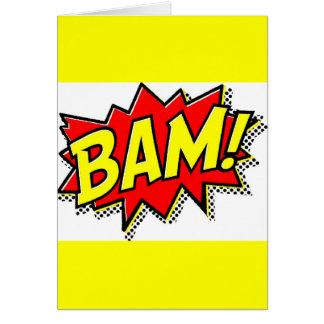 BAM COMICBOOK SOUNDS ACTIONS LOUD COMICS CARTOONS GREETING CARD