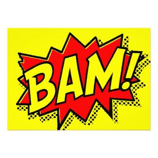 BAM COMICBOOK SOUNDS ACTIONS LOUD COMICS CARTOONS CUSTOM ANNOUNCEMENT