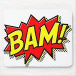 BAM COMICBOOK SOUNDS ACTIONS LOUD COMICS CARTOONS MOUSEPADS