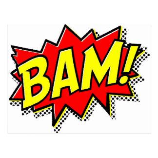 BAM COMICBOOK SOUNDS ACTIONS LOUD COMICS CARTOONS POST CARD