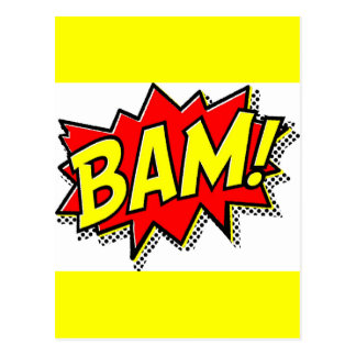 BAM COMICBOOK SOUNDS ACTIONS LOUD COMICS CARTOONS POSTCARD