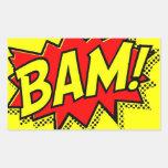 BAM COMICBOOK SOUNDS ACTIONS LOUD COMICS CARTOONS STICKER