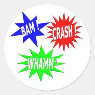 Bam Crash Whamm Sticker