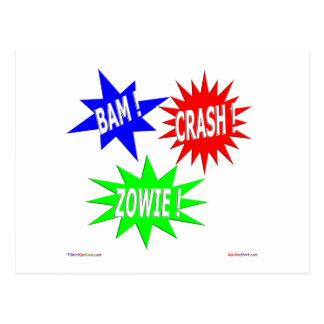 Bam Crash Zowie Postcard