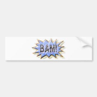 BAM Distressed look Emeril Apron Bumper Sticker
