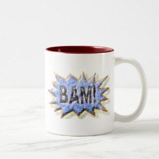 BAM! Distressed look Emeril Apron Two-Tone Coffee Mug