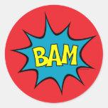 ¡Bam! Etiqueta Redonda