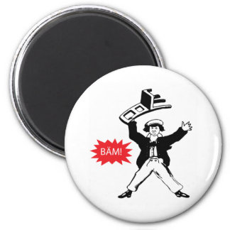 BAM! Guy with Chair 2 Inch Round Magnet