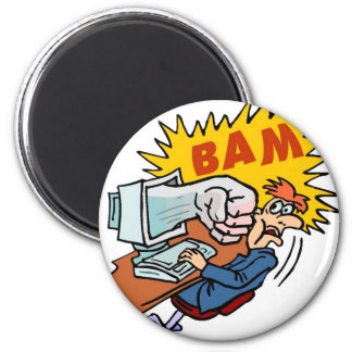 Bam - if the PC strikes back! 2 Inch Round Magnet
