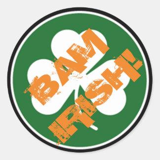 BAM IRISH ROUND STICKER