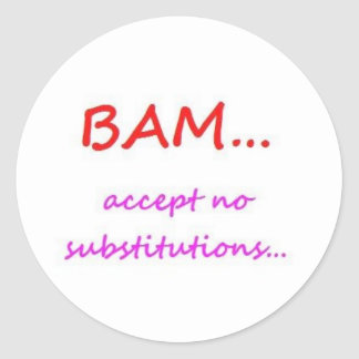 BAM - Ningún pegatina de las substituciones,