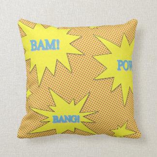 Bam! Pow! Bang! Comic Style Throw Pillow